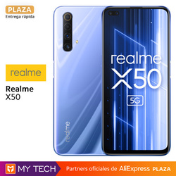 "Smartphone realme X50 5G 6GB 128GB Snapdragon 765G 6.57 ""120Hz FHD  30W version Spain, square, original, new"