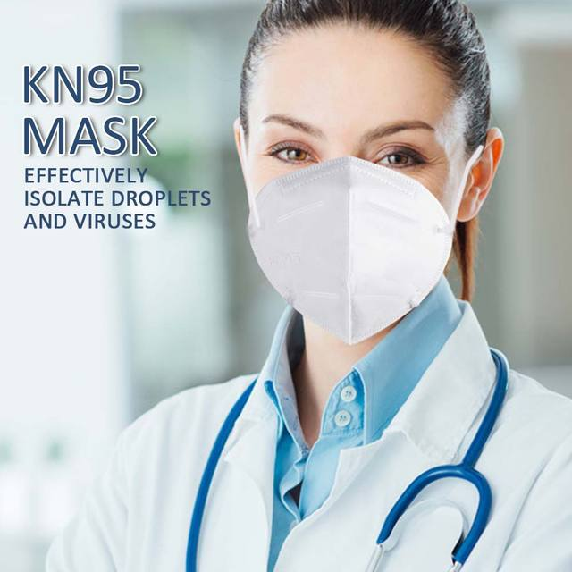 10pcs KN95 Face Mask Protective Mask Safety Masks 95% Filtration for Dust Particulate Pollution N95 Protection 2