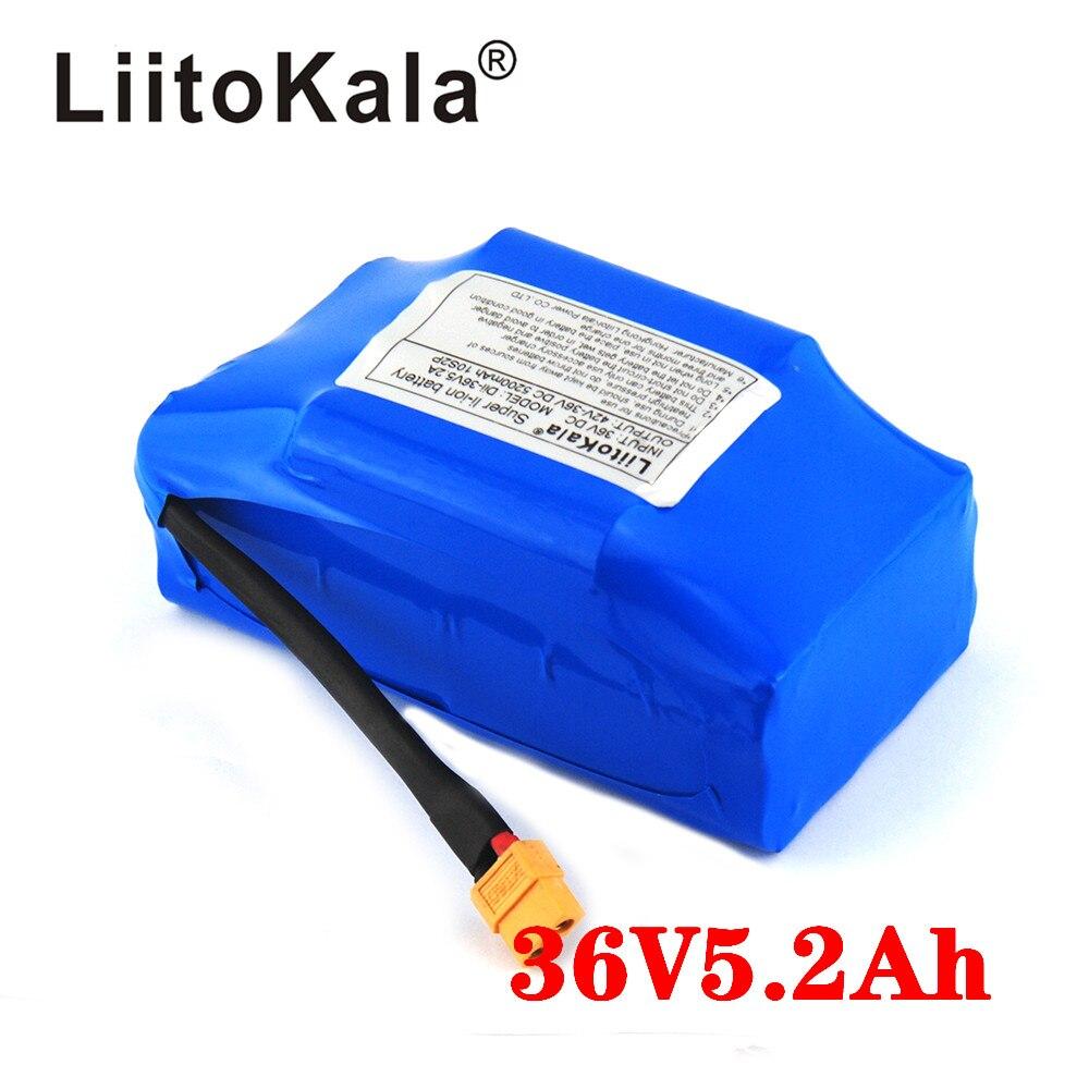 LiitoKala 36V 4.4Ah 5.2Ah High Drain 2 Wheel Electric Scooter Self Balancing Lithium Battery Pack For Self-balancing Fits 6.5