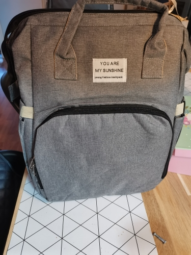 Large Capacity Diaper Bag Backpack With changing station photo review