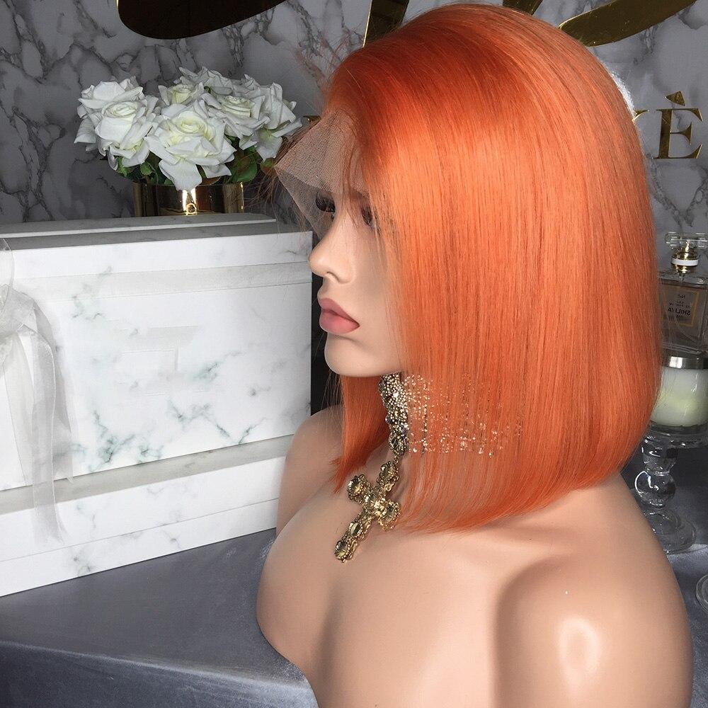 JRX Hair Orange Pre Colored Lace Front Wig 100 Human Hair Bob Wig Colored Pre Plucked JRX Hair Orange Pre-Colored Lace Front Wig 100% Human Hair Bob Wig Colored Pre Plucked Brazilian 13*4 Lace Front Wigs