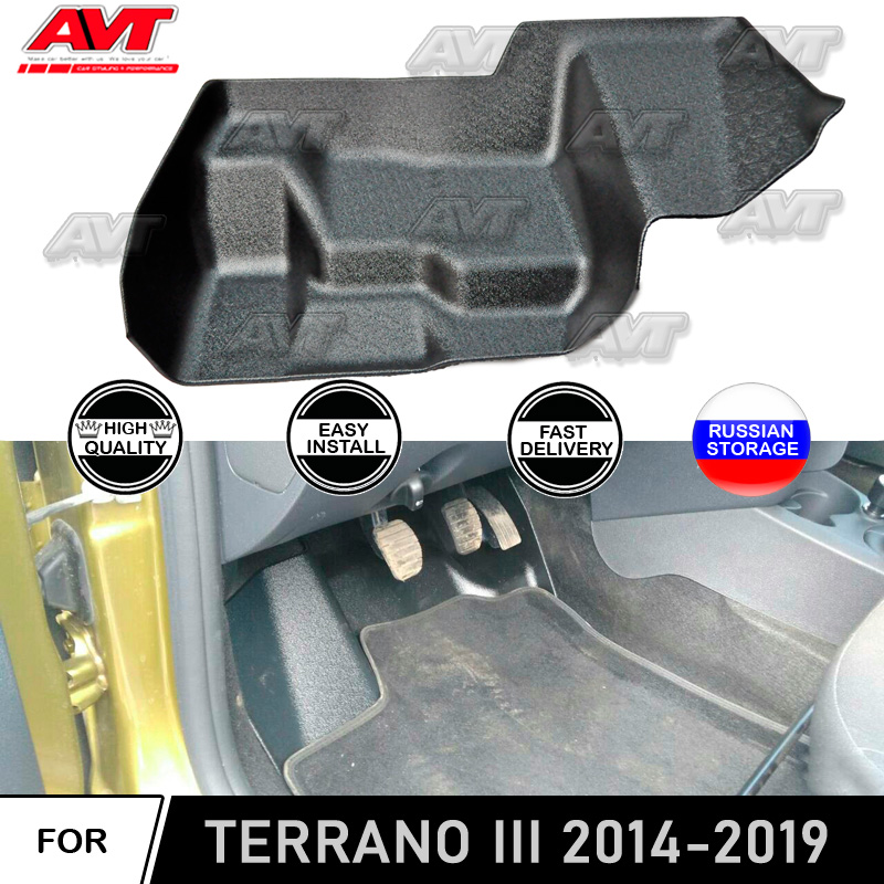 Carpet Protective Cover Under The Pedal Assembly For Nissan Terrano 2014-2019 Car Styling Decoration Cover Interior