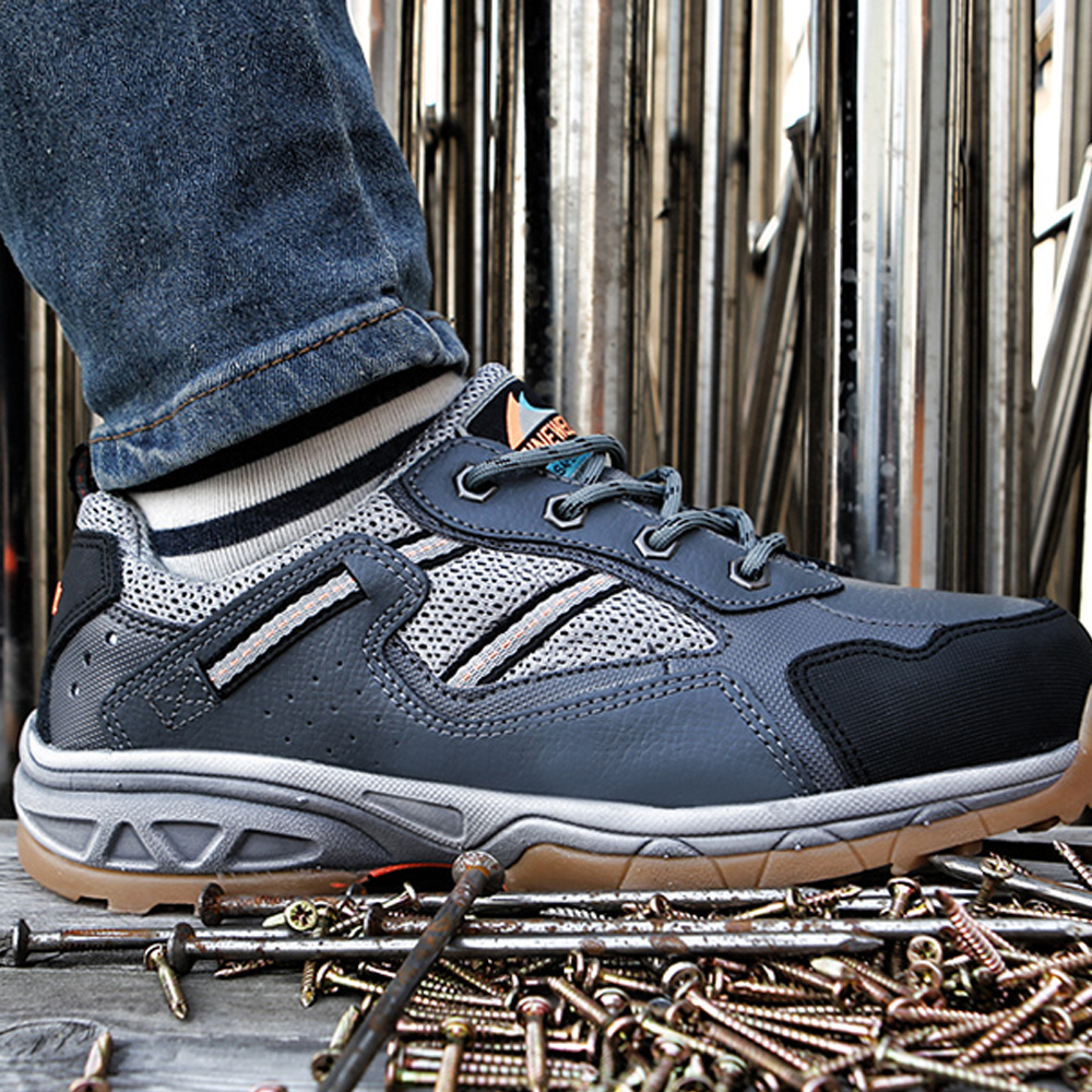 Newest Paperplanes Men's Safety Work Shoes Steel Toe Sneakers Breathable Indestructible Ryder Shoes-SF31