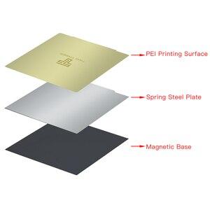 Image 2 - New Upgrade Removal Spring Steel Sheet Pre applied PEI+Magnetic Base 220/235/310mm for Ender 3 CR 10 Ender 5 3D Printer Hot Bed