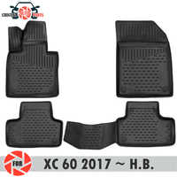 Floor mats for Volvo XC60 2017~2019 rugs non slip polyurethane dirt protection interior car styling accessories
