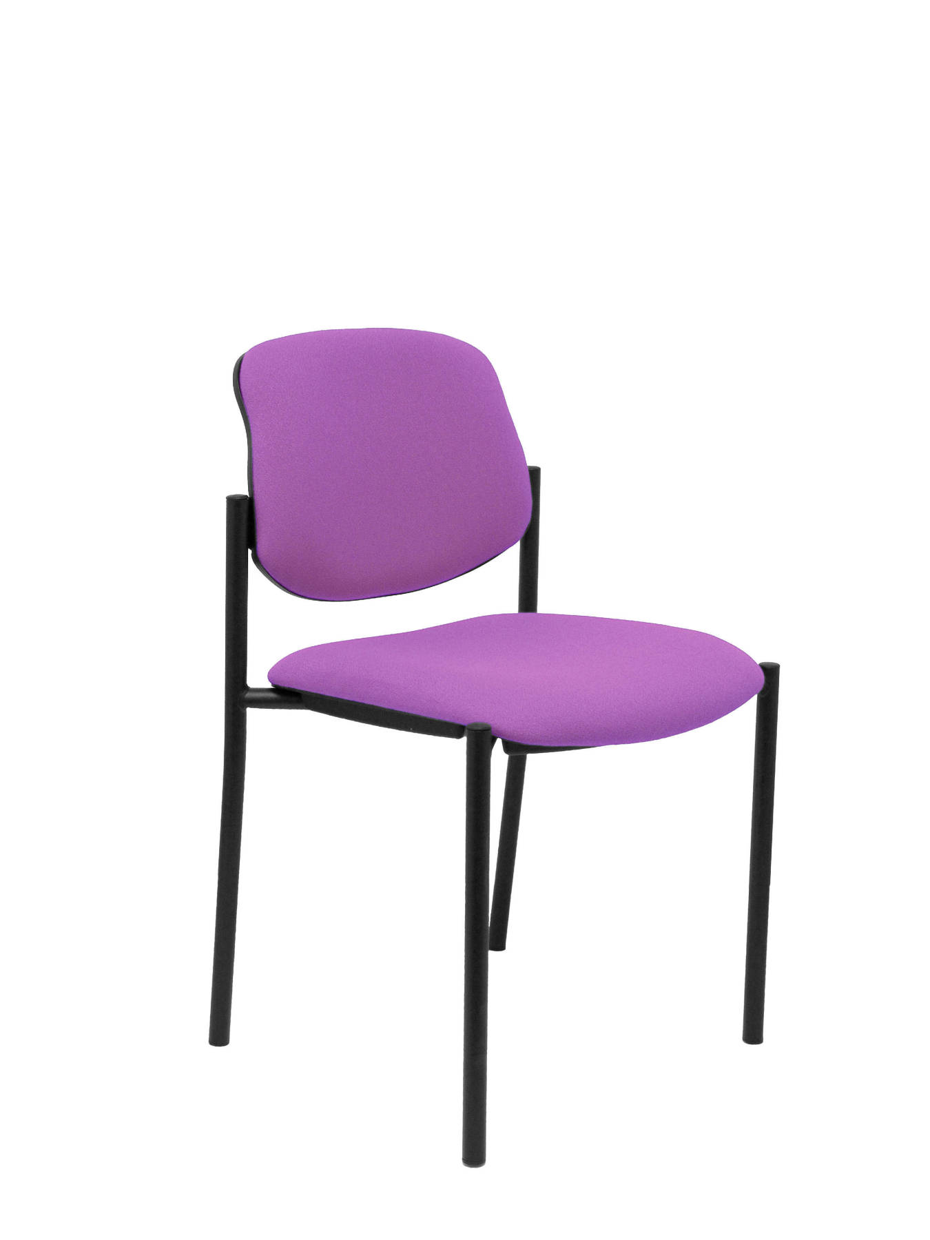 Visitor Chair 4's Topsy And Estructrua Negro-up Seat And Backstop Upholstered In BALI Tissue Color Lilac TAPHOLE AND CRESP