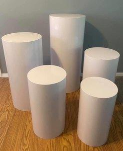 Round Cylinder Pedestal Display Art Decor Plinths Pillars for DIY Wedding Decorations Holiday