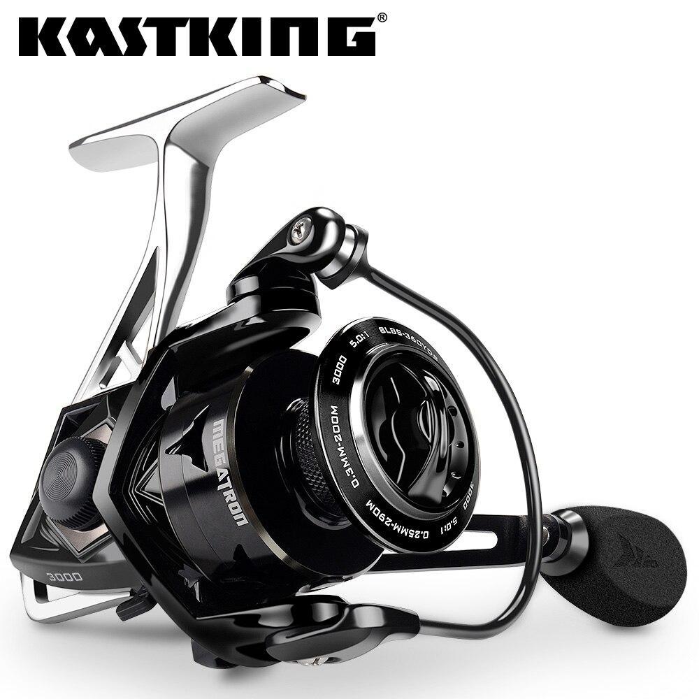 KastKing Megatron Spinning Fishing Reel 18KG Max Drag 7+1 Ball Bearings Aluminum Spool Carbon Fiber Drag Saltwater Fishing Coil