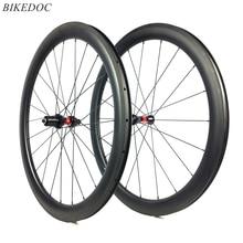700C Углеродные колеса для шоссейного велосипеда 25 мм ширина Клинчера 38 мм 45 мм 50 мм 60 мм Глубина велосипеда углеродная колесная пара