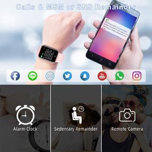 Image 5 - CYUC NY07 スマート腕時計 sms コールリマインダー心拍数モニター血圧 IP67 防水用男性女性スマートウォッチ