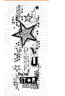 CLEAR STAMP star background DIY Scrapbook Card album paper craft silicon rubber roller transparent stamps 791