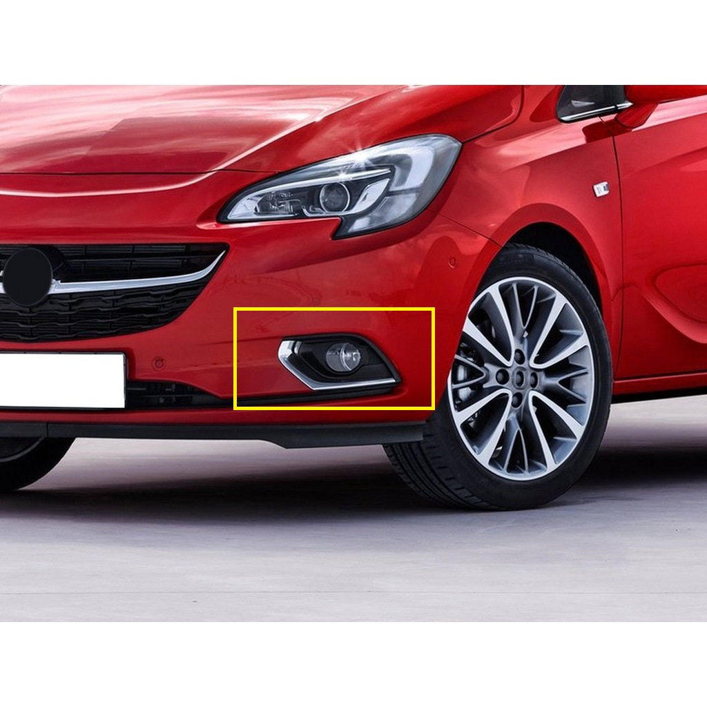 Free Shipping New Style High Quality Easy Montage Bright Chrome 2 Pieces Front Fog Light Frame For Opel Corsa E 2015  - 2020