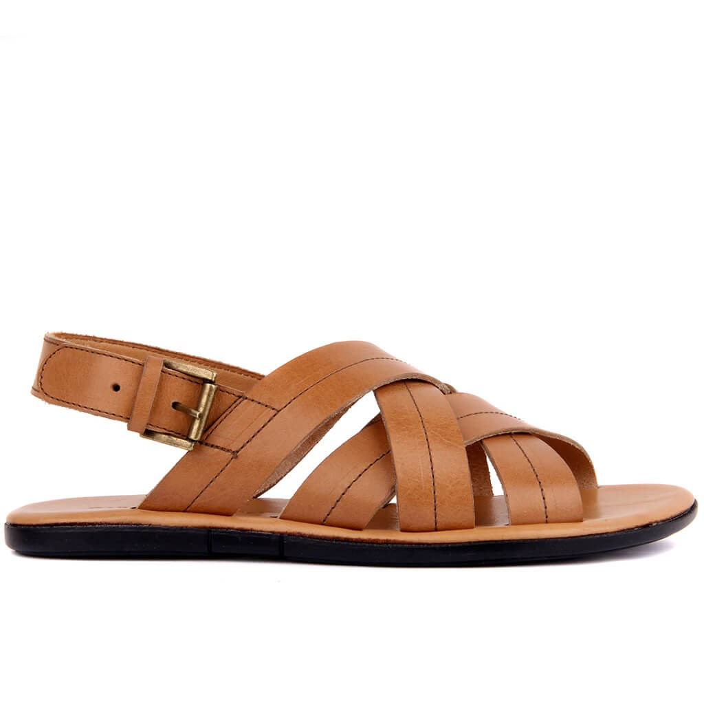Sail Lakers-Tan Leather Men 'S Sandals