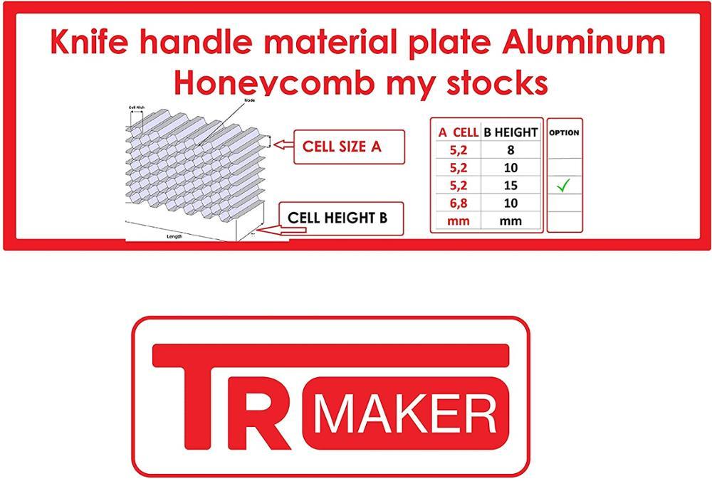 TR MAKER Knife Handle Maker Honeycomb Grid Core 20x20cm