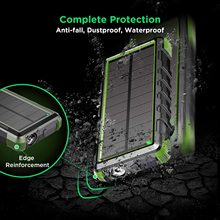 цена на EasyAcc 24000mAh Solar Power Supply Energy Storage Battery Power Bank Rugged Waterproof Portable Rechargeable Charger Laptop