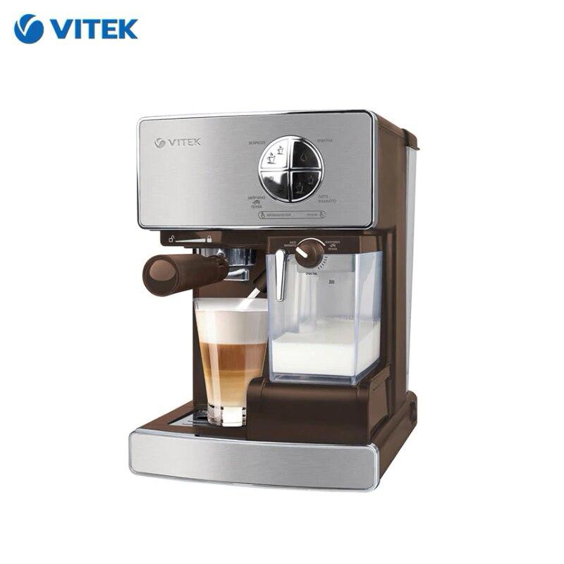 Coffeemaker Vitek VT-1516 Horn Capuchinator Coffee Maker Household Appliances For Kitchen Manual Coffee Machine