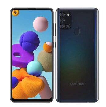 Глобальная версия Samsung Galaxy A21s мобильный телефон 4 Гб 64 Гб 5000 мАч Octa Core 6,5 дюймQuad камера 48MP с двумя sim-картами 4G Android смартфон