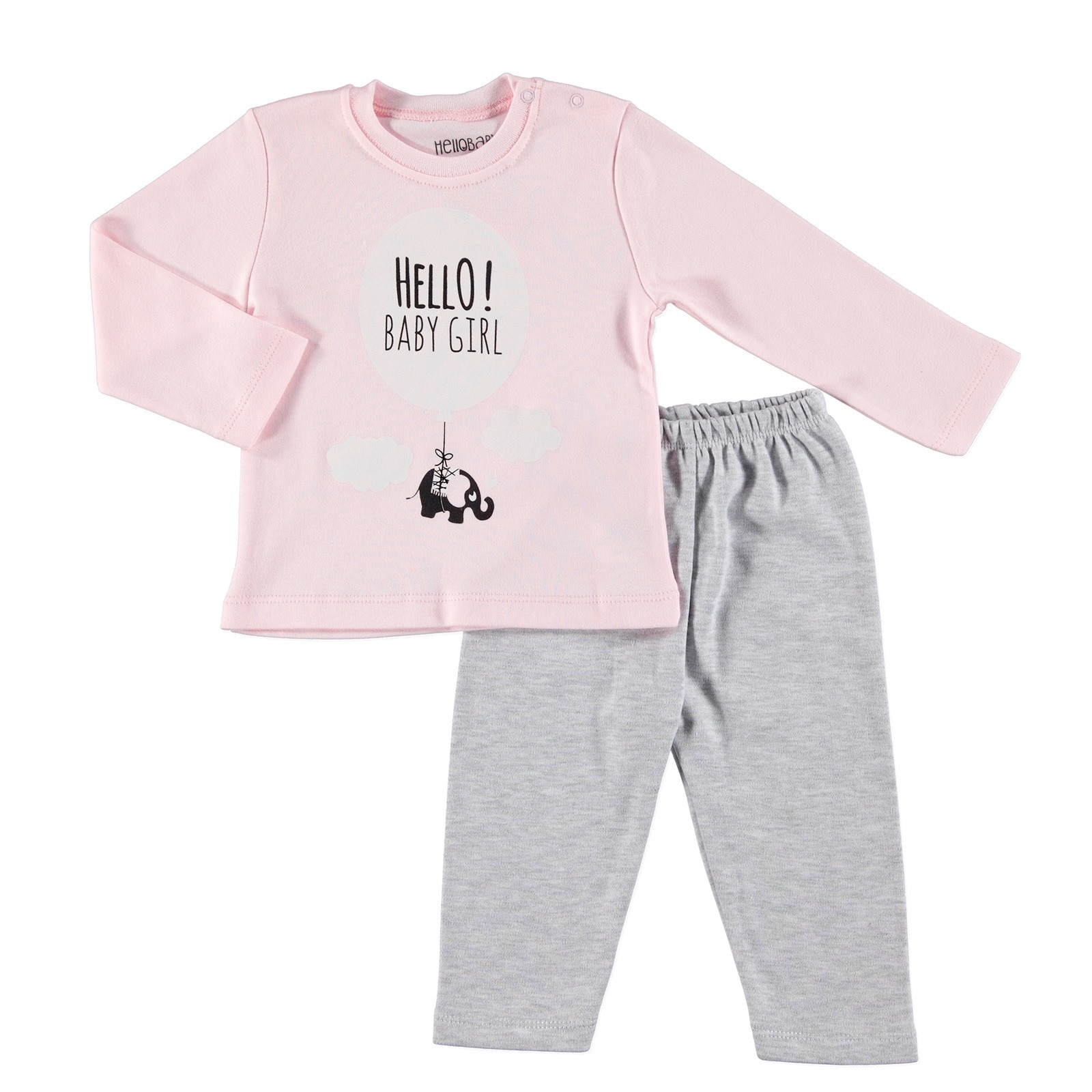 Ebebek HelloBaby Long Sleeve Pyjamas Set