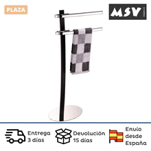 MSV bathroom towel rail chrome steel black color towel rail with two bars for easy access after showering