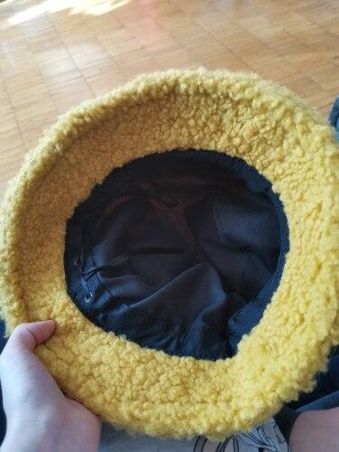 Harajuku Faux Fur Winter Bucket Hat photo review