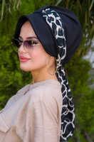 Black zebra scarf