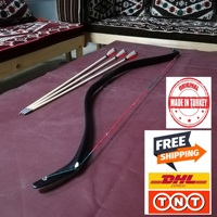 OKCUBABA PREMIUM TURKISH TRADITIONAL PV GLASS FIBER RESIN BOW TARGET SHOT 30-45 lbs Turkish Ottoman Form-Free Shipping DHL / TNT