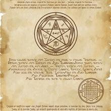 Уникальная печать Enochian Grimoire Sigillum Archangel Anael