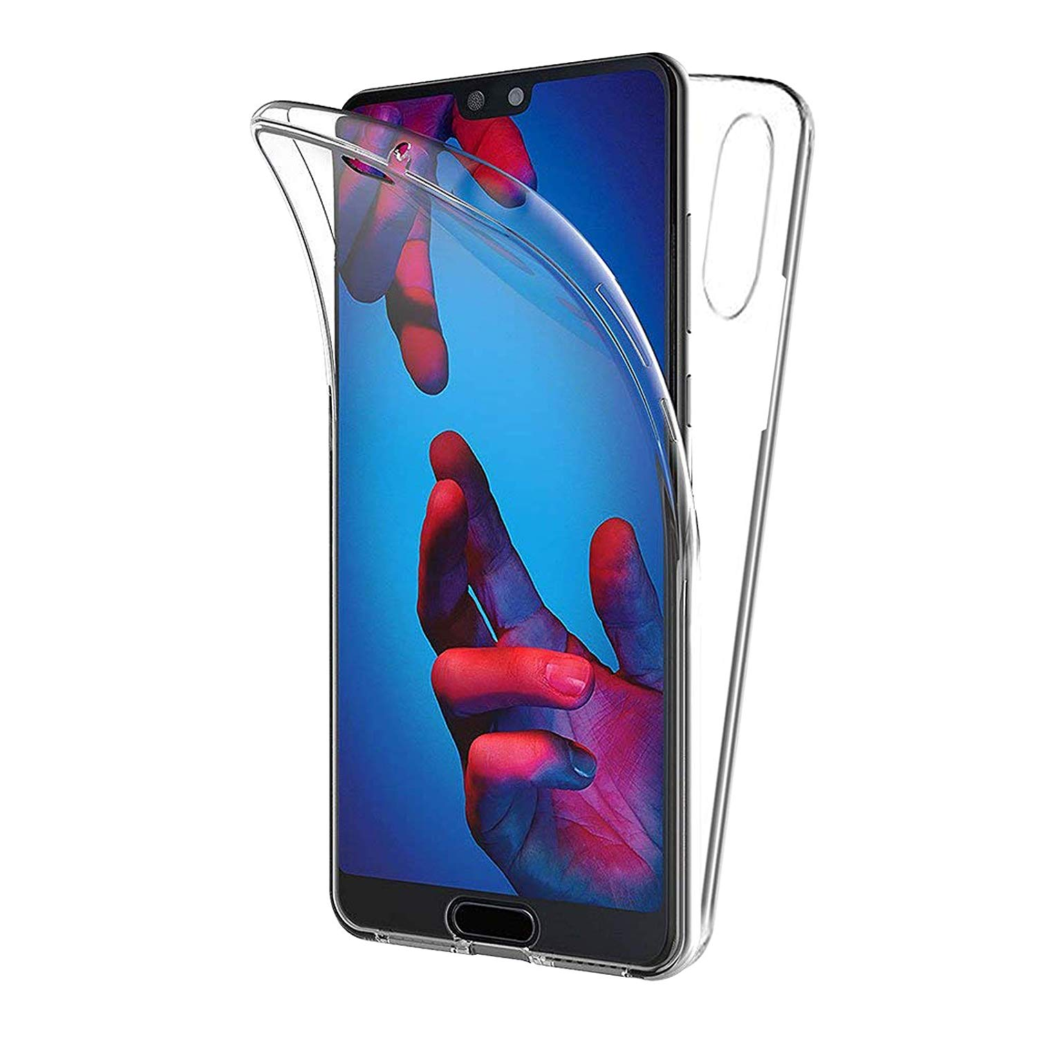 Huawei <font><b>P20</b></font> silicone <font><b>Case</b></font> full protection <font><b>360</b></font> full protection silicone <font><b>case</b></font> image