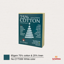 85gsm 75% cotton 25% linen paper A4 210*297mm White color with red and blue fiber Starch-free Waterproof 100 sheets GCYT006