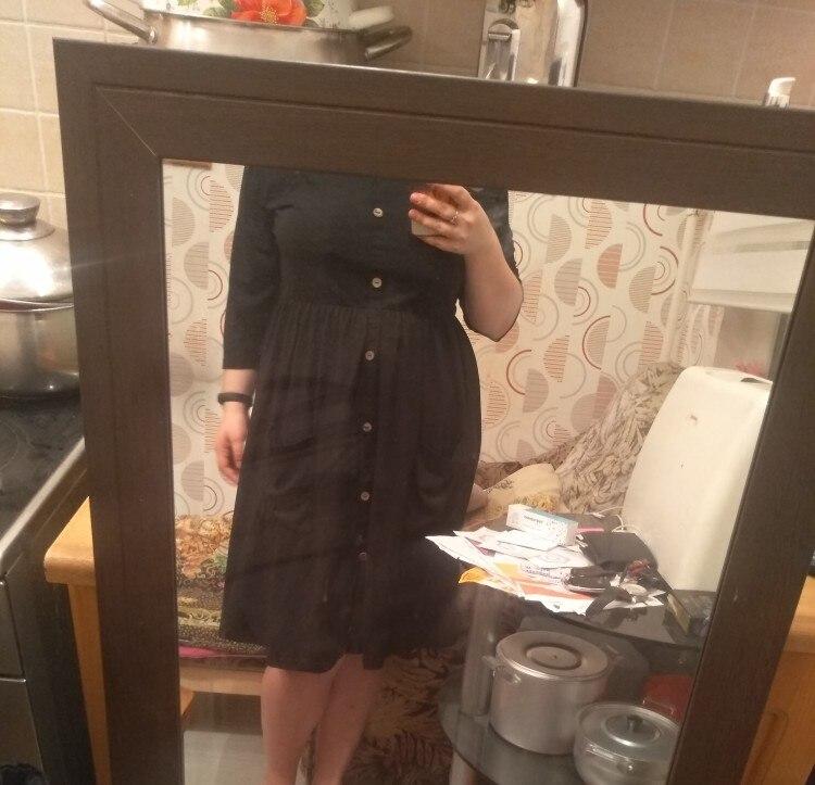 Big Size 9Xl Dress For Fat Mm  Women Dress Loose Pocket Design Solid Plus Size Dresses Women Clothing Party Dress Vestidos photo review