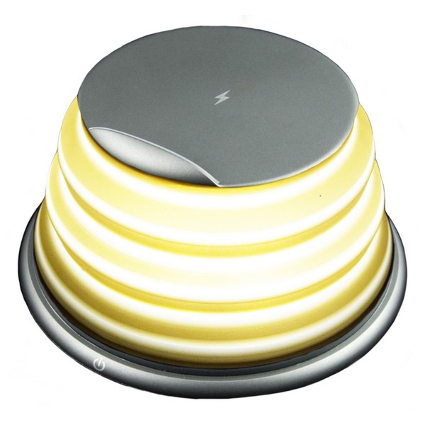 Işıklar ve Aydınlatma'ten Kolye ışıkları'de LED lamba ile akıllı telefonlar için kablosuz şarj Qi title=