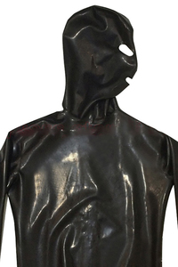Image 4 - LinMe Unisex Footed Unitard Faux Leather PVC Shiny Clubwear Hook Mask Catsuit Full Coverage Wetlook Plus Size Halloween Costumes