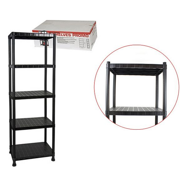 Shelves Bricotech Black (5 Shelves) (60 X 40 X 184 Cm)