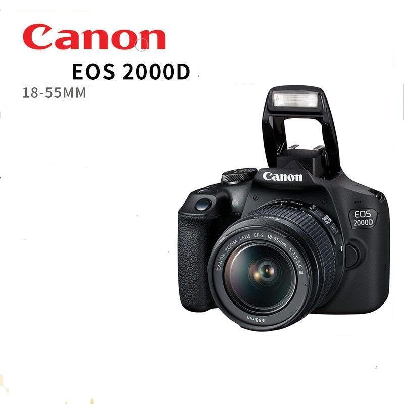 Canon 2000D Rebel T7 DSLR Camera Body & 18 55mm Lens Kit DSLR Cameras  - AliExpress