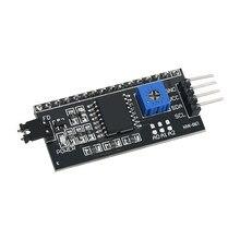 Adaptador, 5 pçs/lote pcf8574 iic i2c twi spi placa de interface série 1602 2004 lcd lcd1602 adaptador placa lcd conversor adaptador módulo do módulo