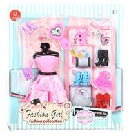 Clothing and accessories for dolls 29 cm (dress, shoes, handbags)