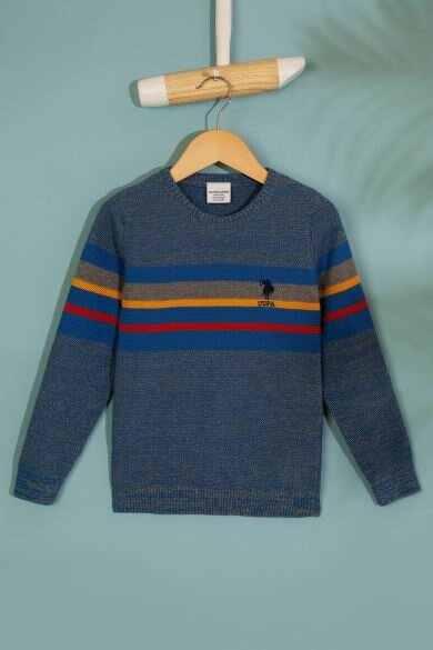 미국 polo assn. 블루 표준 스웨터
