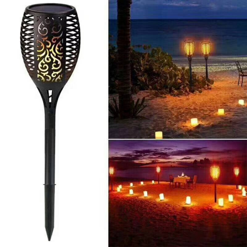 Balight-solar Torch Lamp For Patio, Garden, Patio, Party, Wedding, Light, 96 LEDs, Waterproof, Wireless, On/off Auto