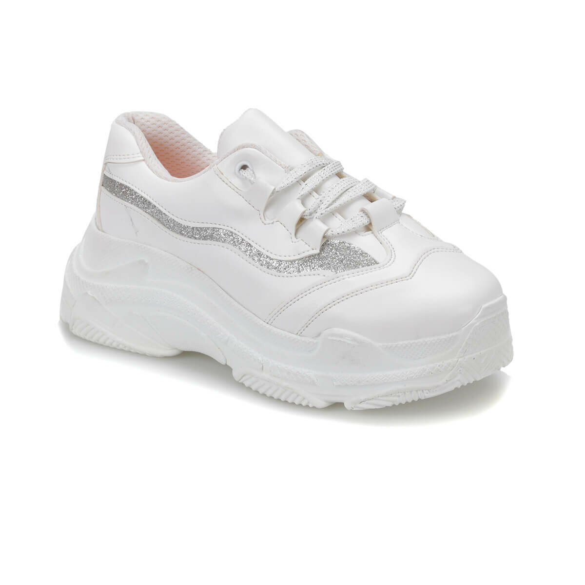 FLO CHUNKY White Female Child Sneaker Shoes I-Cool