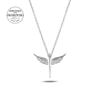 Silver 925 Sterling Swarovski Zirconia Stone Fairy Necklace