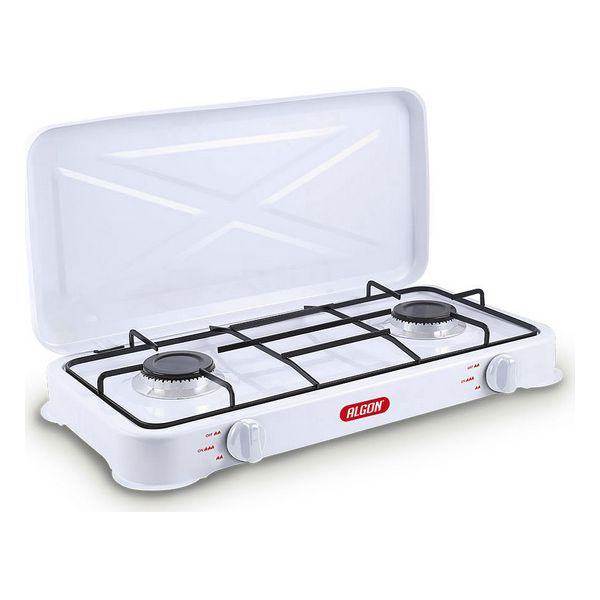 Gas Hob Algon White (2 Stoves) (58 X 28 X 8,5 Cm)