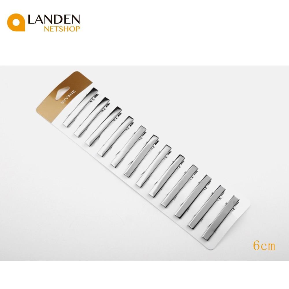 12 Pieces 6cm Crocodile's Duckbill Clip Metal Clip With Teeth Crocodile Forceps Hair DIY