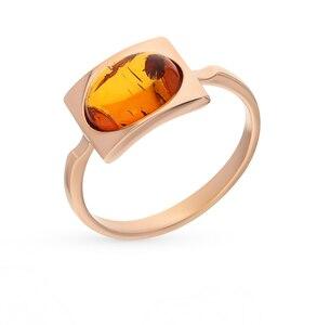 Серебряное кольцо с янтарем SUNLIGHT проба 925 проба