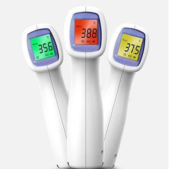 Cyfrowy termometr na podczerwień czoło ucho bezdotykowe medyczne Termometro LCD gorączka ciała dziecko dorosły pomiar temperatury pirometr tanie i dobre opinie U-Kiss CHINA Rohs
