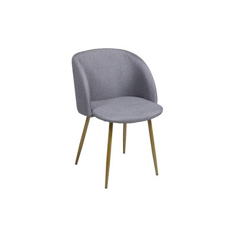Chair Stainless Steel Polyester (53x58x81 Cm)