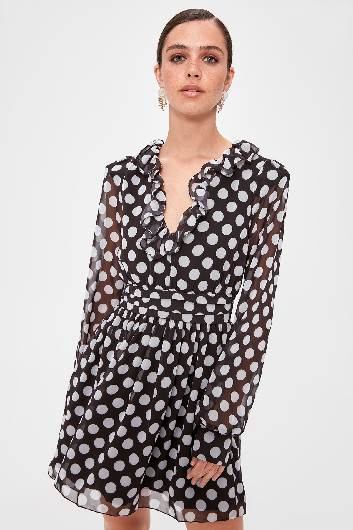 Trendyol Polka Dot Printed Dress TPRAW20EL1348