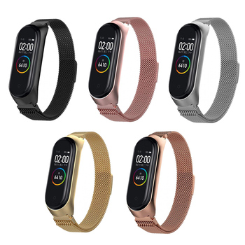 Xiaomi Mi band 4 Metal Bracelet Mi band 3 Replacement Smart watch accessory Magnet Clasp Band Bracelet Adjustable Replacement 1