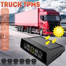 Sistema de supervisión de presión de neumáticos TPMS, energía Solar inalámbrica, camión RV, TPMS con 6 sensores para remolque de coche, autocaravana, remolques de viaje