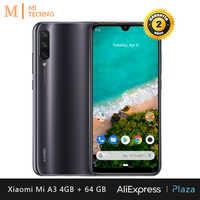 Xiaomi Mi A3 Smartphone (4 hard GB RAM, 64 hard GB ROM, phone mobile, free, new, cheap, battery 4030 mAh, Triple camera 48MP) [Global Version]