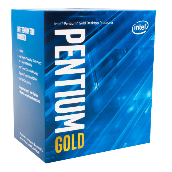 CPU Intel Pentium Gold G5400 Coffee Lake 8°gn Socket 1151 3.7 GHz 4 m Dual Core IGPU 54 W